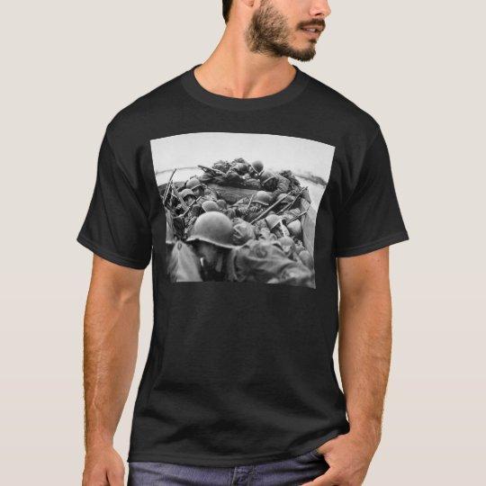 Assault Boat Crossing the Rhine in World War II T-Shirt
