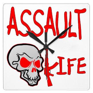 Assault Life Square Wallclock