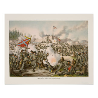 Assault on Fort Sanders by Kurz and Allison 1863 Posters