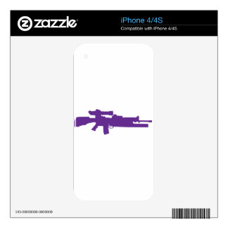 Assault Rifle Skin For iPhone 4