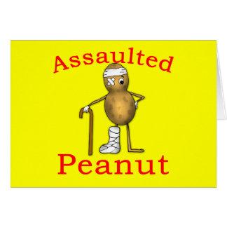 Assaulted Peanut! Funniest Joke Ever T shirt Card