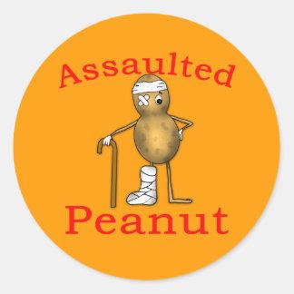 Assaulted Peanut! Funniest Joke Ever T shirt Classic Round Sticker