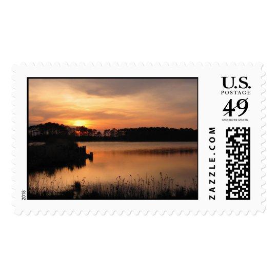 Assawoman Sunset Stamp
