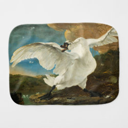 Asselijn's The Threatened Swan Burp Cloth