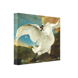 Premium Wrapped Canvas with Asselijn's The Threatened Swan design