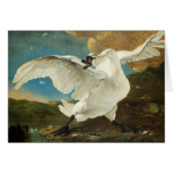 Greeting Card with Asselijn's The Threatened Swan design