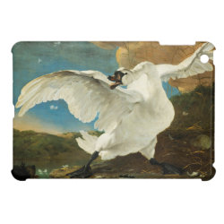 Case Savvy iPad Mini Glossy Finish Case with Asselijn's The Threatened Swan design
