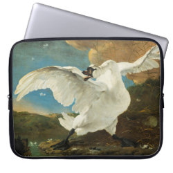 Neoprene Laptop Sleeve 15' with Asselijn's The Threatened Swan design