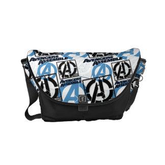 Assemble Pattern Small Messenger Bag