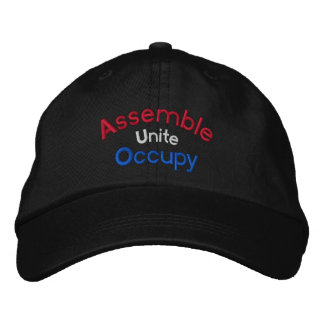 Assemble Unite Occupy Embroidered Cap Embroidered Hat