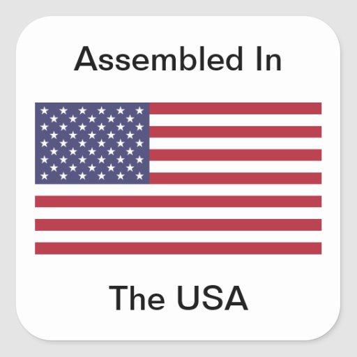 Assembled In The USA Sticker