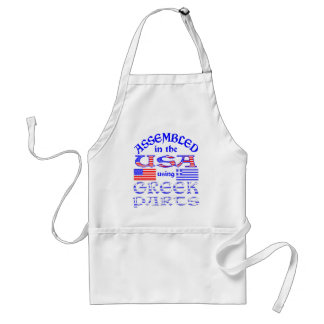 Assembled in USA Using Greek Parts Adult Apron
