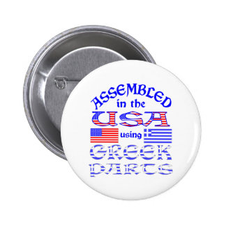 Assembled in USA Using Greek Parts 2 Inch Round Button