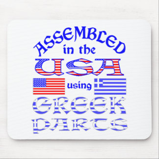 Assembled in USA Using Greek Parts Mouse Pad