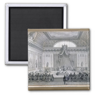 Assemblee des Notables Presided over by Louis 2 Inch Square Magnet