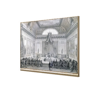 Assemblee des Notables Presided over by Louis Canvas Print