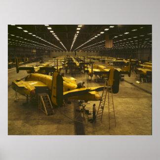 Assembling B-25 Bombers Poster