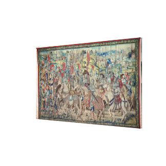 Assembling the Riders, from the tapestry of 'David Canvas Print