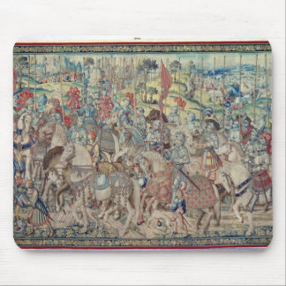 Assembling the Riders, from the tapestry of 'David Mouse Pad