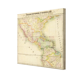 Assembly Map of America Canvas Print