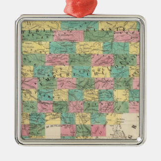 Assembly Map of Asia Metal Ornament
