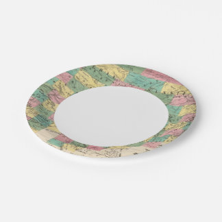 Assembly Map of Asia 7 Inch Paper Plate