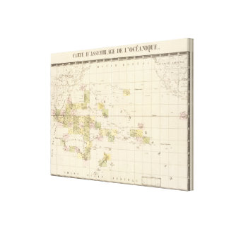Assembly Map of Oceania Canvas Print