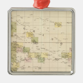 Assembly Map of Oceania Metal Ornament