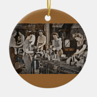 Assembly Munitions Factory Workers  1945 Ceramic Ornament