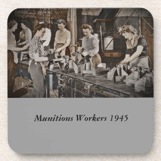 Assembly Munitions Factory Workers  1945 Drink Coaster
