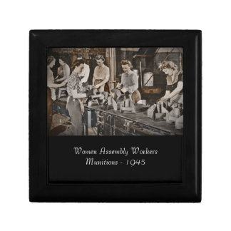 Assembly Munitions Factory Workers  1945 Keepsake Boxes