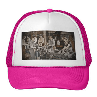 Assembly Munitions Factory Workers  1945 Hats