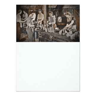 Assembly Munitions Factory Workers  1945 5.5x7.5 Paper Invitation Card