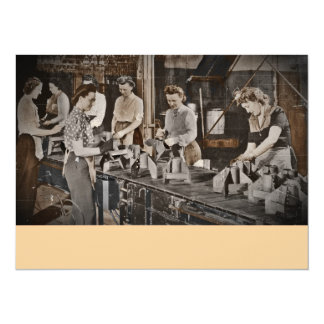 Assembly Munitions Factory Workers  1945 Personalized Invitation
