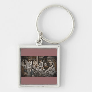 Assembly Munitions Factory Workers  1945 Keychains