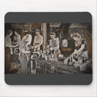 Assembly Munitions Factory Workers  1945 Mouse Pad