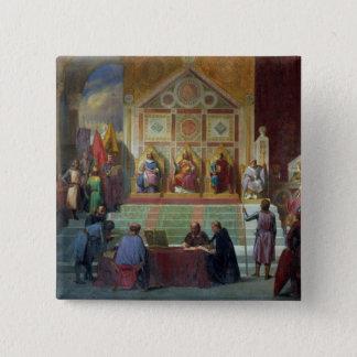Assembly of Crusaders in Ptolemais in 1148, 1840 Pinback Button