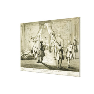 Assembly of Free Masons for the Initiation of a Ma Canvas Print