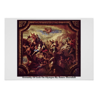 Assembly Of Gods On Olympus By James Thornhill Poster