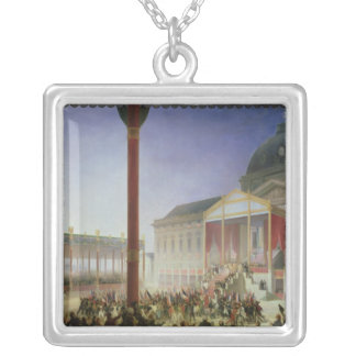 Assembly of the Champ de Mai, 1st June 1815 Silver Plated Necklace