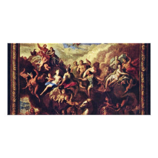 Assembly Of The Gods On Mount Olympus Custom Photo Card