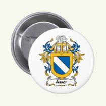 Asser Family Crest Button