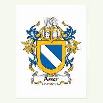Asser Family Crest Postcard