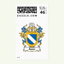 Asser Family Crest Stamps