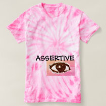 Assertive eye dye T-shirt pink