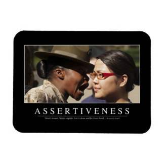 Assertiveness: Inspirational Quote Magnet