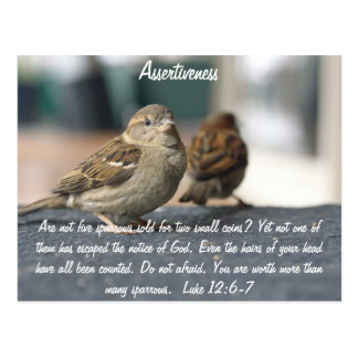 Assertiveness Postcard - Sparrows Quote