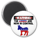 Asses are now in control! 2 inch round magnet