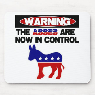 Asses are now in control mouse pad