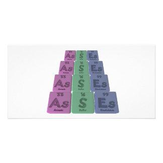 Asses-As-S-Es-Arsenic-Sulfur-Einsteinium Photo Card